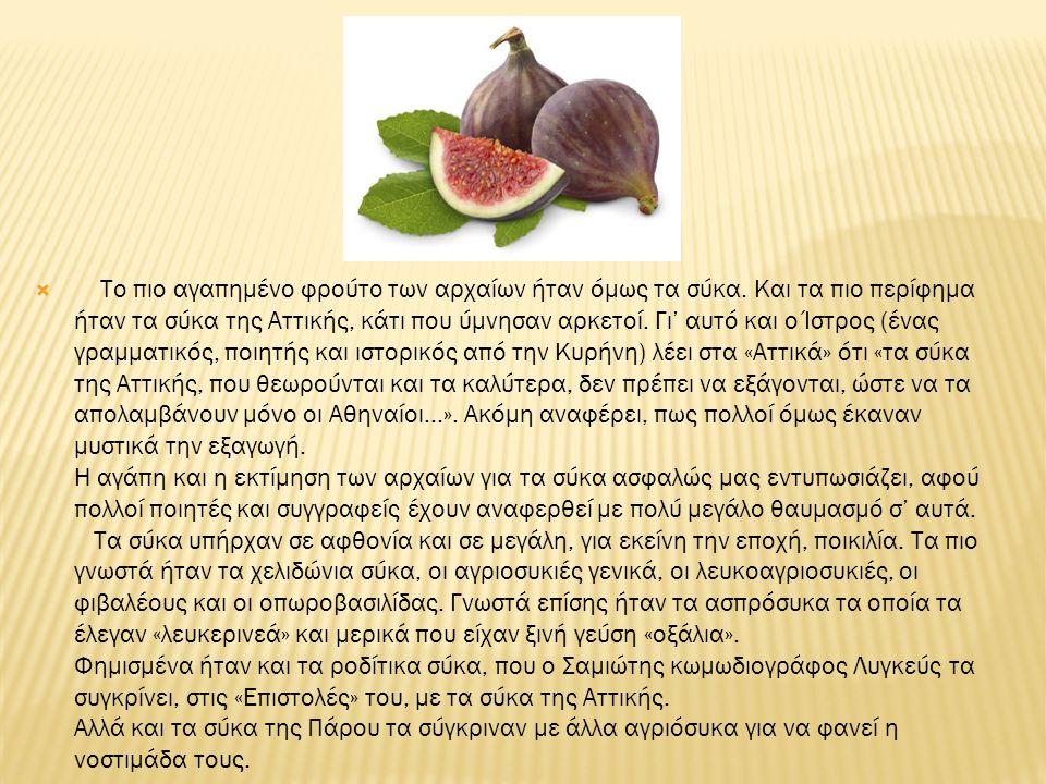 Το πιο αγαπημένο φρούτο των αρχαίων ήταν όμως τα σύκα