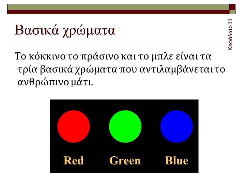 Βασικά χρώματα Κεφάλαιο 11.