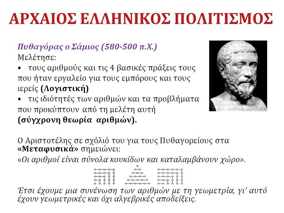 ΑΡΧΑΙΟΣ ΕΛΛΗΝΙΚΟΣ ΠΟΛΙΤΙΣΜΟΣ