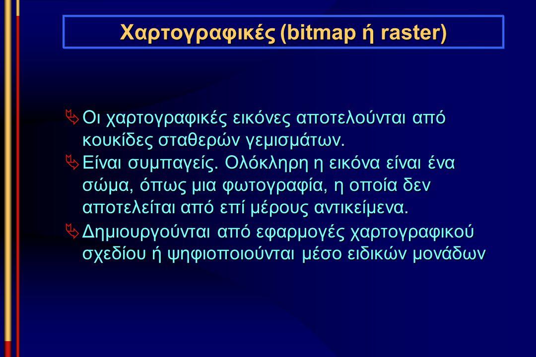 Χαρτογραφικές (bitmap ή raster)