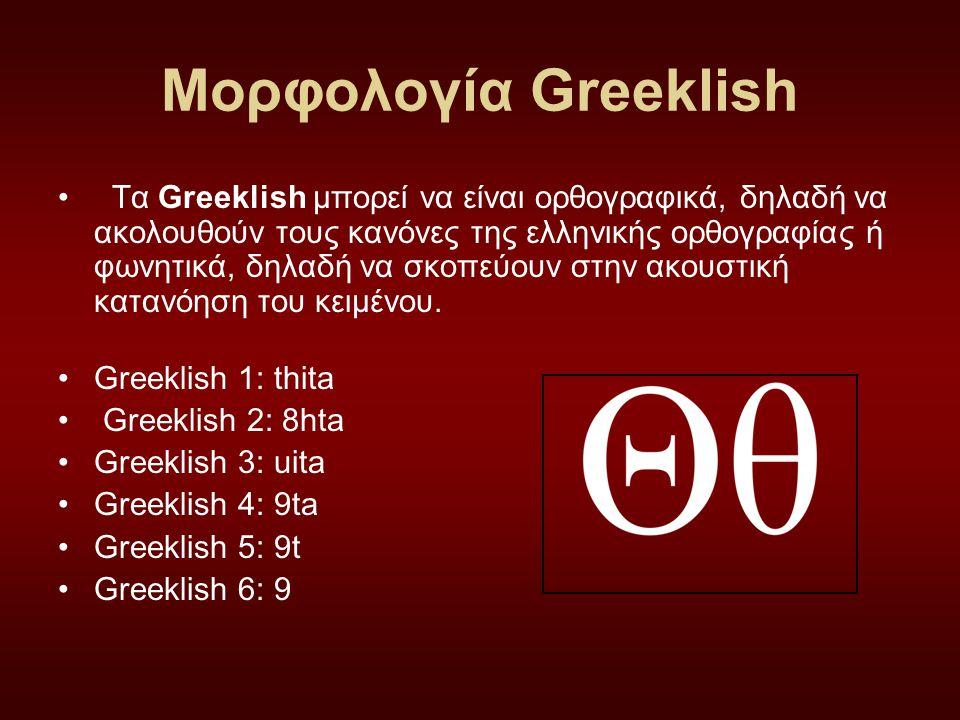 Μορφολογία Greeklish