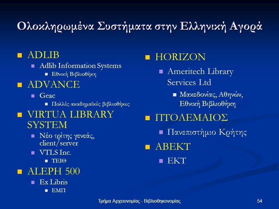 Ολοκληρωμένα Συστήματα στην Ελληνική Αγορά