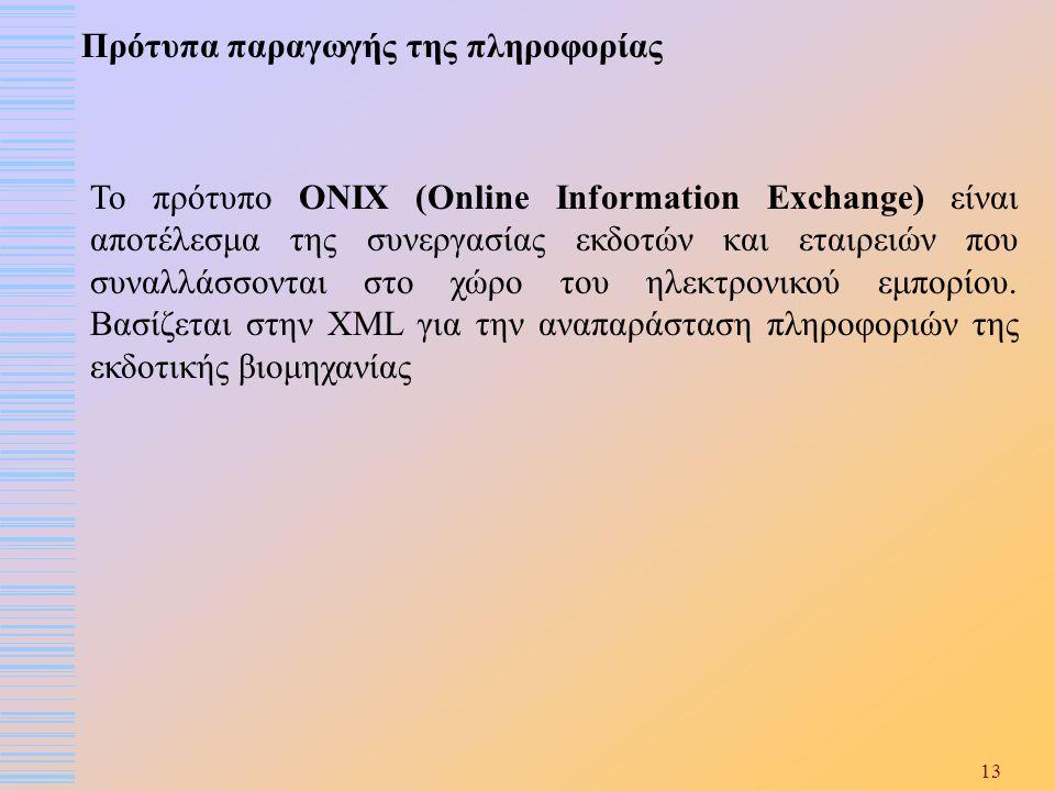 Πρότυπα παραγωγής της πληροφορίας