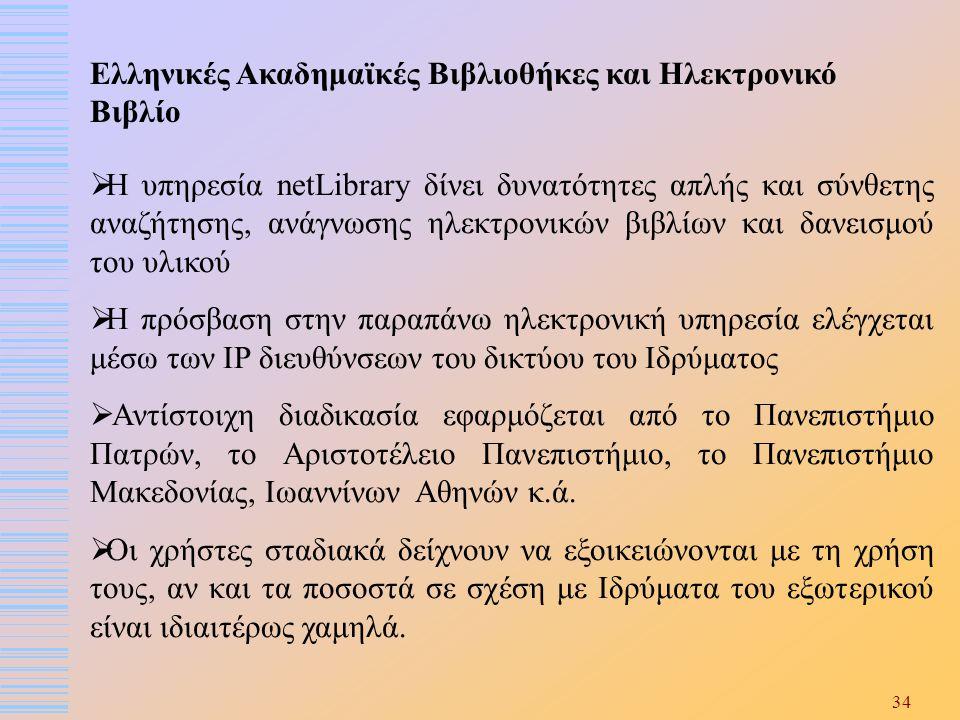 Ελληνικές Ακαδημαϊκές Βιβλιοθήκες και Ηλεκτρονικό Βιβλίο