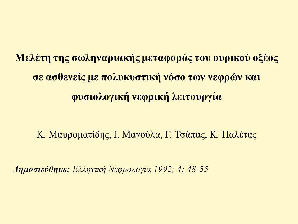 Κ. Μαυροματίδης, Ι. Μαγούλα, Γ. Τσάπας, Κ. Παλέτας