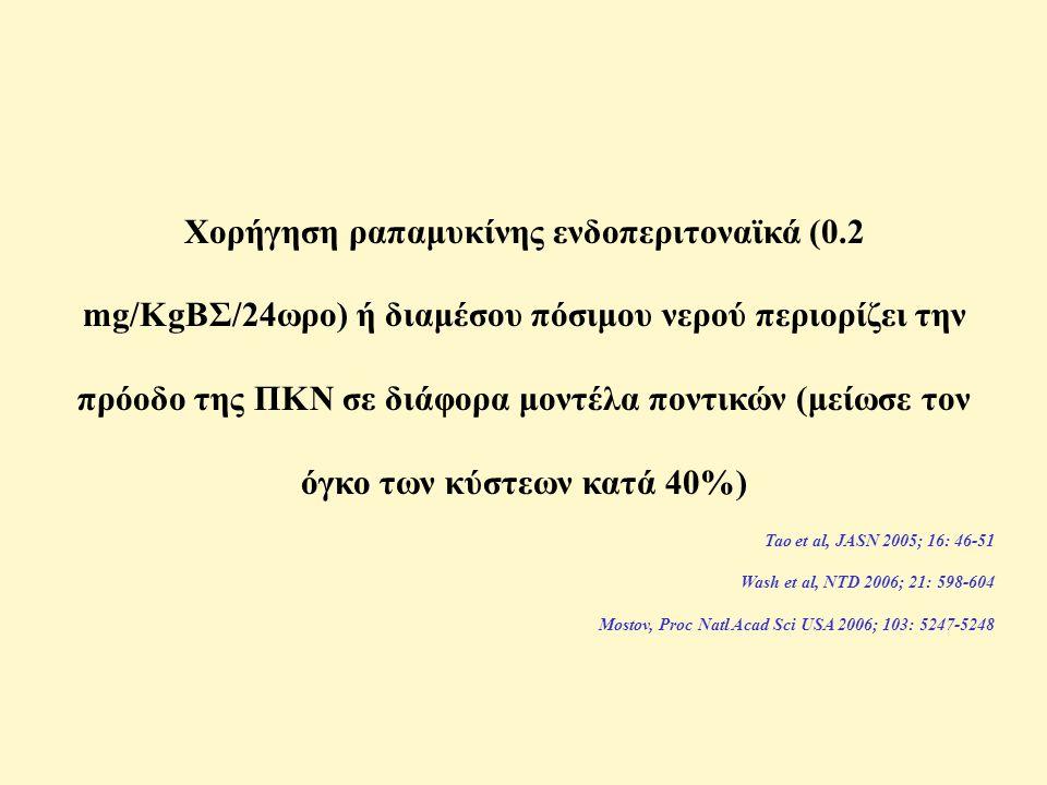 Χορήγηση ραπαμυκίνης ενδοπεριτοναϊκά (0