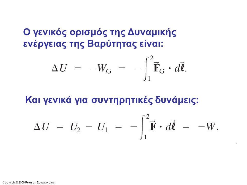 Ο γενικός ορισμός της Δυναμικής ενέργειας της Βαρύτητας είναι:
