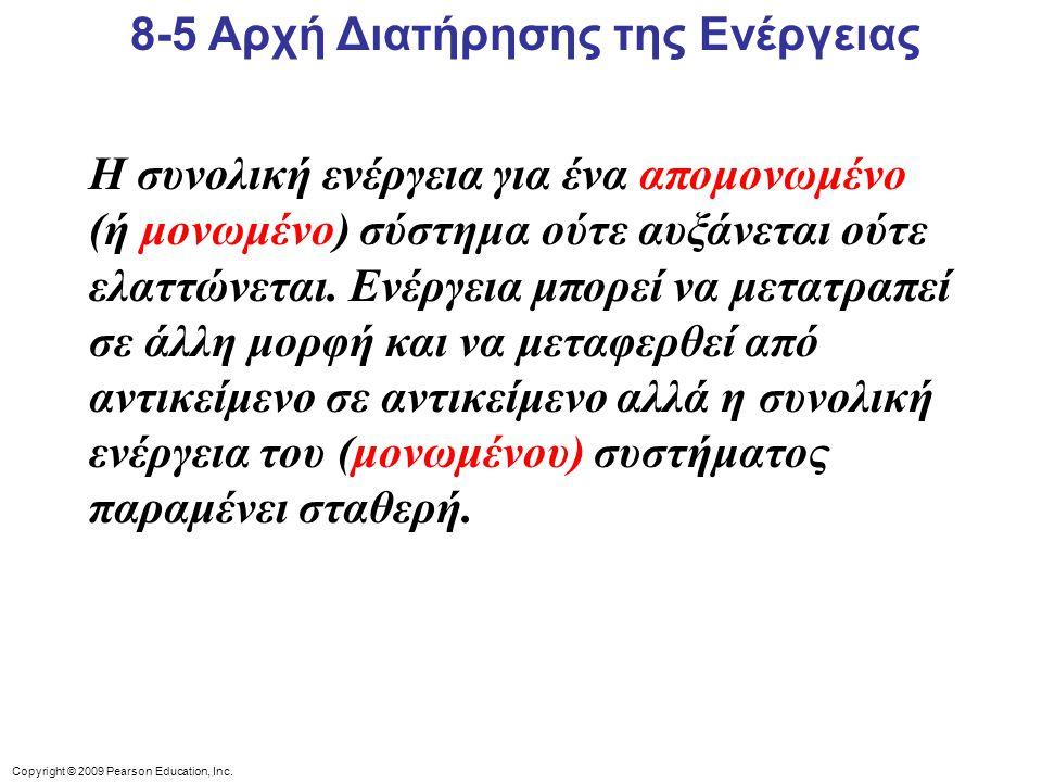 8-5 Αρχή Διατήρησης της Ενέργειας
