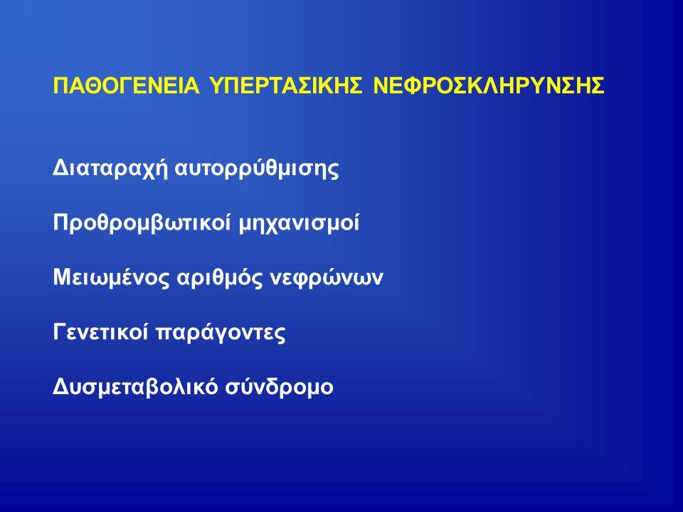 ΠΑΘΟΓΕΝΕΙΑ ΥΠΕΡΤΑΣΙΚΗΣ ΝΕΦΡΟΣΚΛΗΡΥΝΣΗΣ