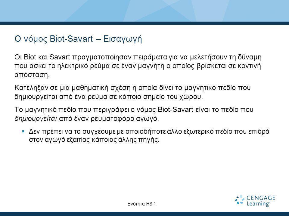 Ο νόμος Biot-Savart – Εισαγωγή