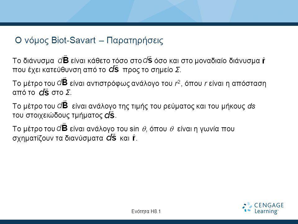 Ο νόμος Biot-Savart – Παρατηρήσεις