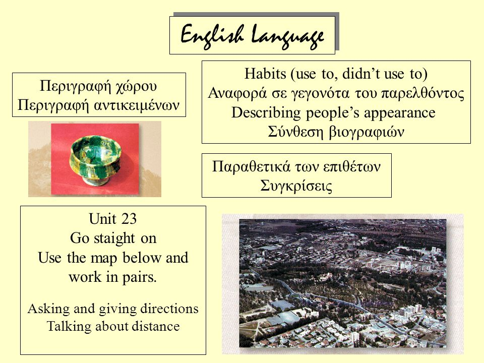 Εnglish Language Habits (use to, didn't use to)