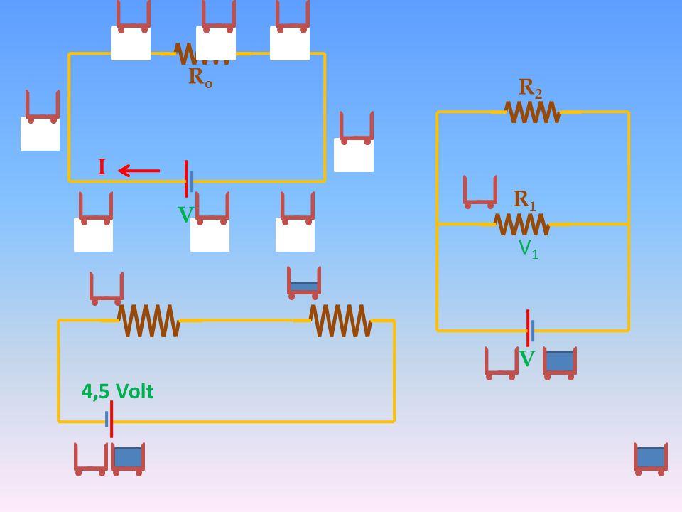 Rο R2 Ι R1 V V1 V 4,5 Volt
