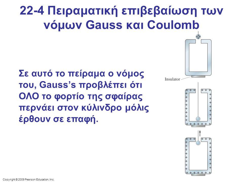 22-4 Πειραματική επιβεβαίωση των νόμων Gauss και Coulomb