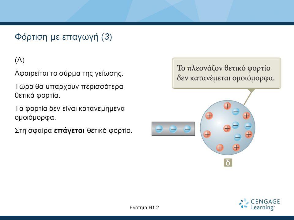 Φόρτιση με επαγωγή (3) (Δ) Αφαιρείται το σύρμα της γείωσης.