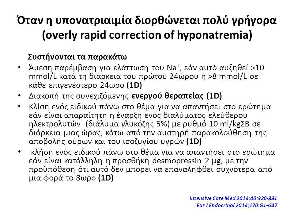 Όταν η υπονατριαιμία διορθώνεται πολύ γρήγορα (overly rapid correction of hyponatremia)