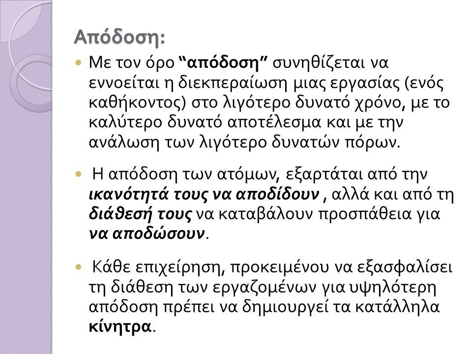Απόδοση: