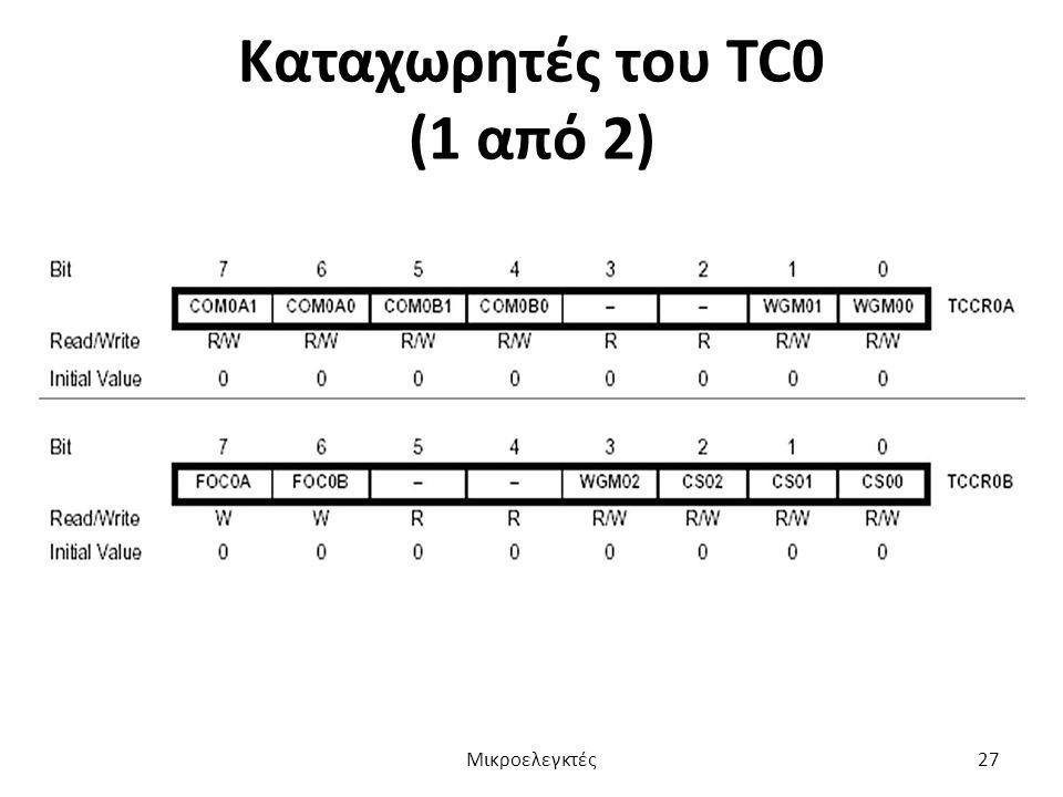 Καταχωρητές του TC0 (1 από 2)