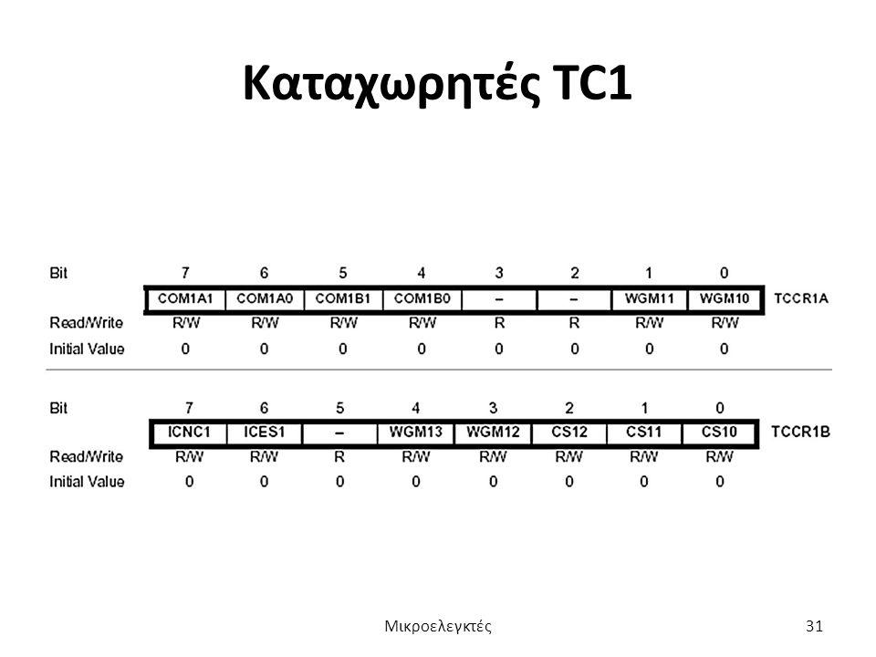 Καταχωρητές TC1 Μικροελεγκτές