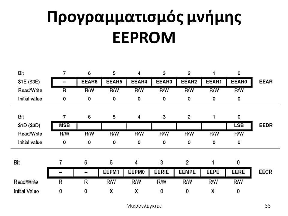 Προγραμματισμός μνήμης EEPROM