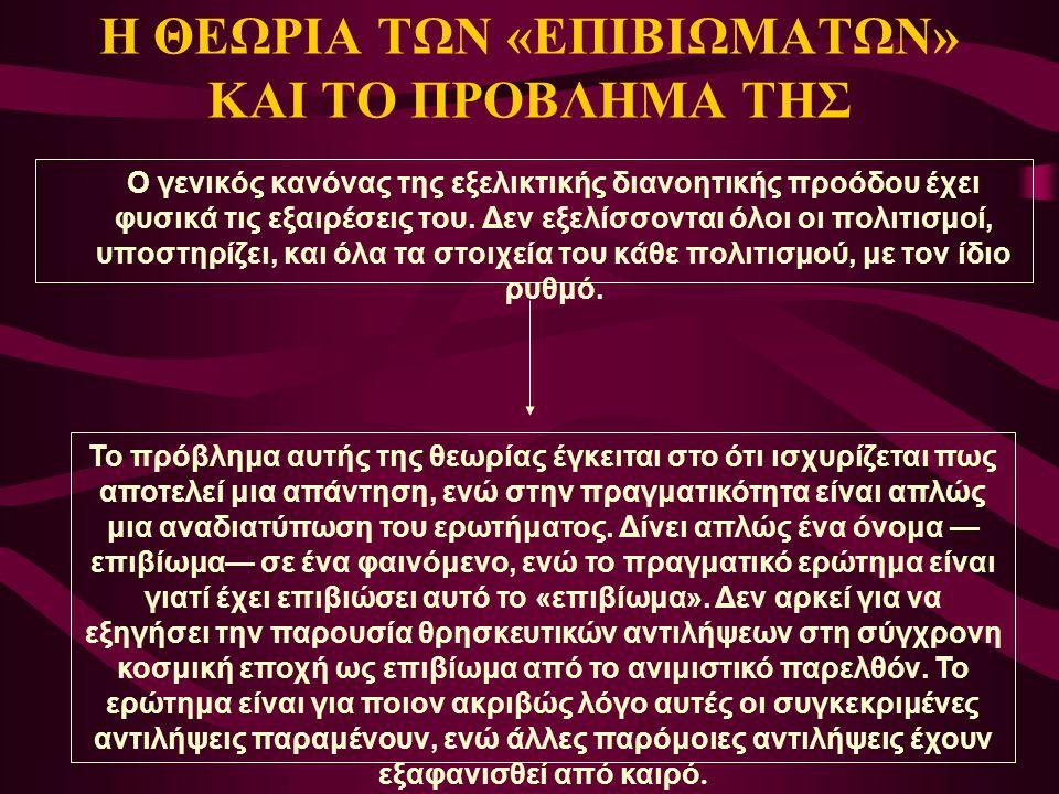 Η ΘΕΩΡΙΑ ΤΩΝ «ΕΠΙΒΙΩΜΑΤΩΝ» ΚΑΙ ΤΟ ΠΡΟΒΛΗΜΑ ΤΗΣ