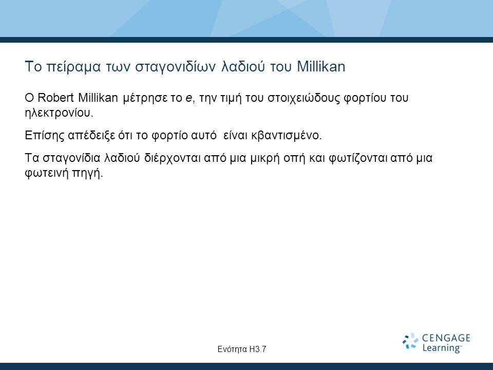 Το πείραμα των σταγονιδίων λαδιού του Millikan