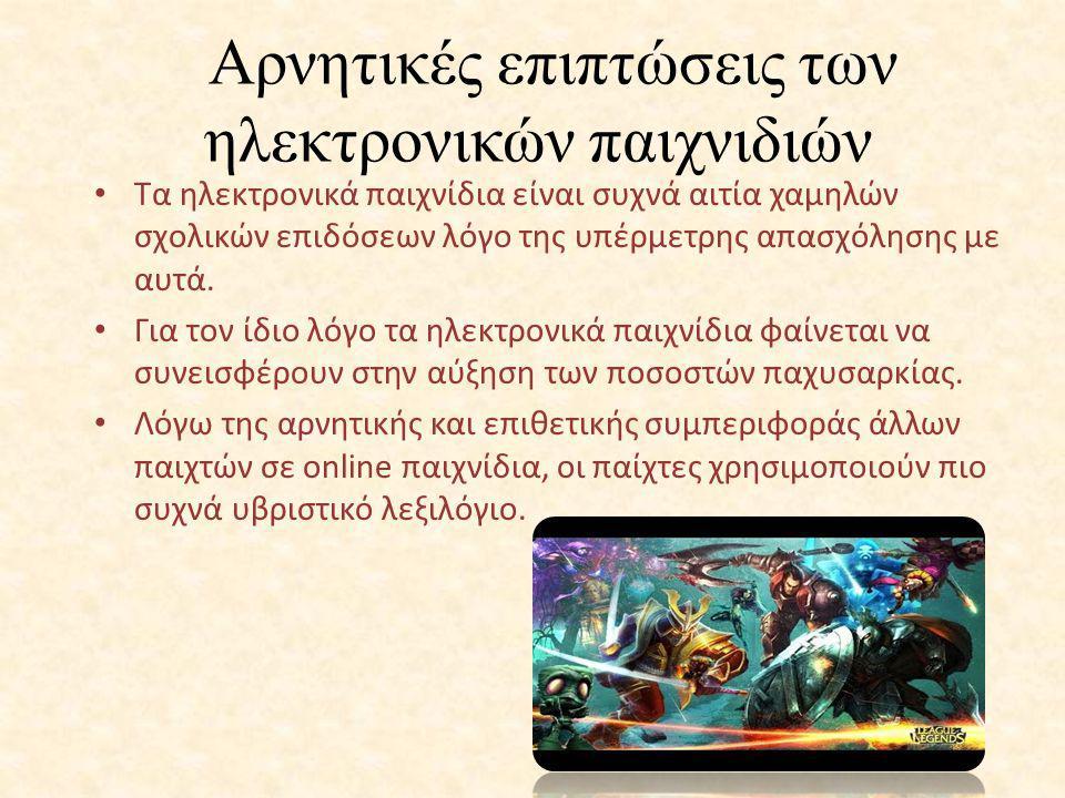 Αρνητικές επιπτώσεις των ηλεκτρονικών παιχνιδιών