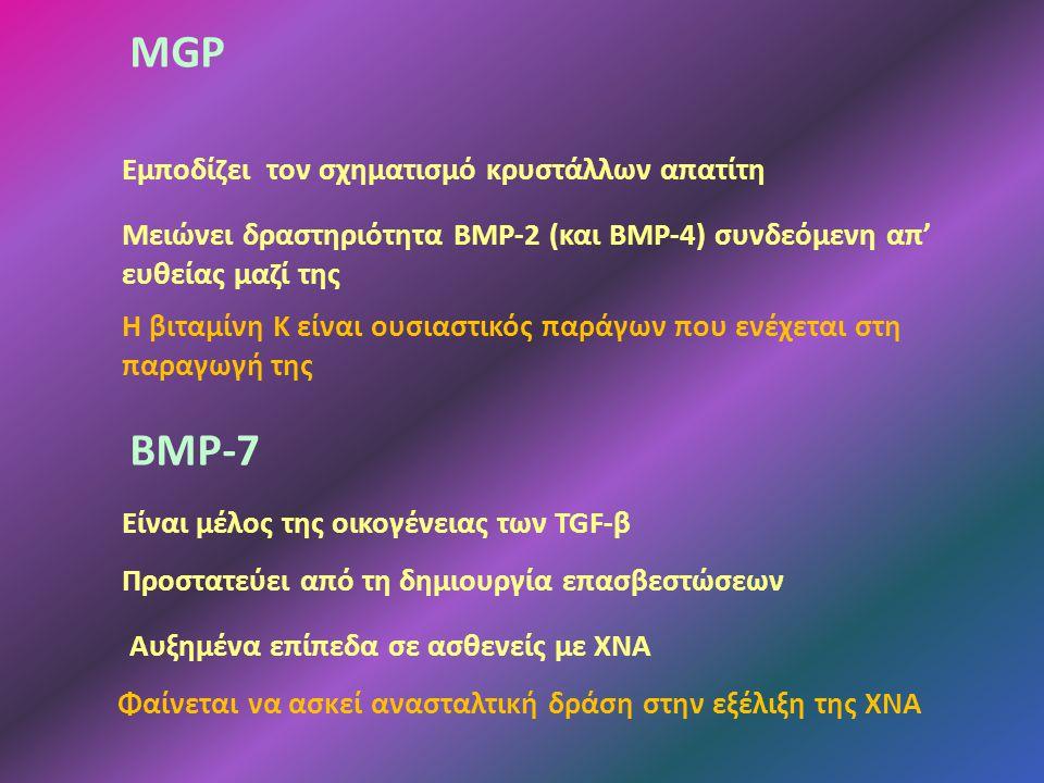 MGP ΒΜΡ-7 Εμποδίζει τον σχηματισμό κρυστάλλων απατίτη