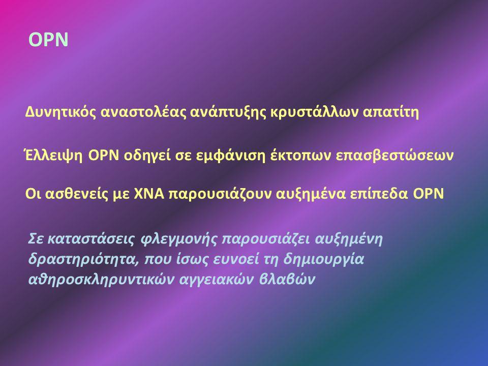 OPN Δυνητικός αναστολέας ανάπτυξης κρυστάλλων απατίτη