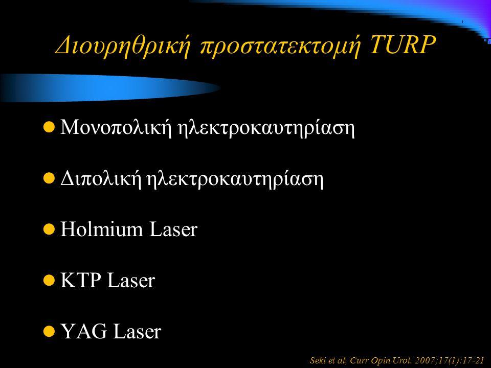 Διουρηθρική προστατεκτομή TURP