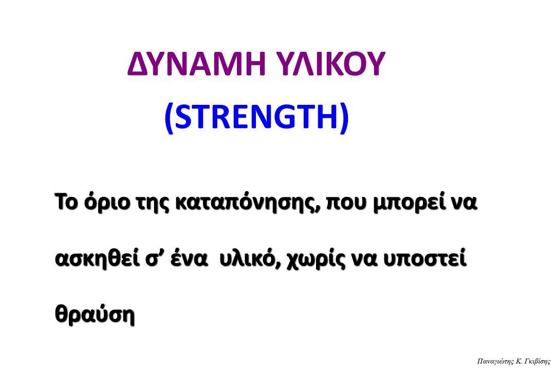ΔΥΝΑΜΗ ΥΛΙΚΟΥ (STRENGTH)