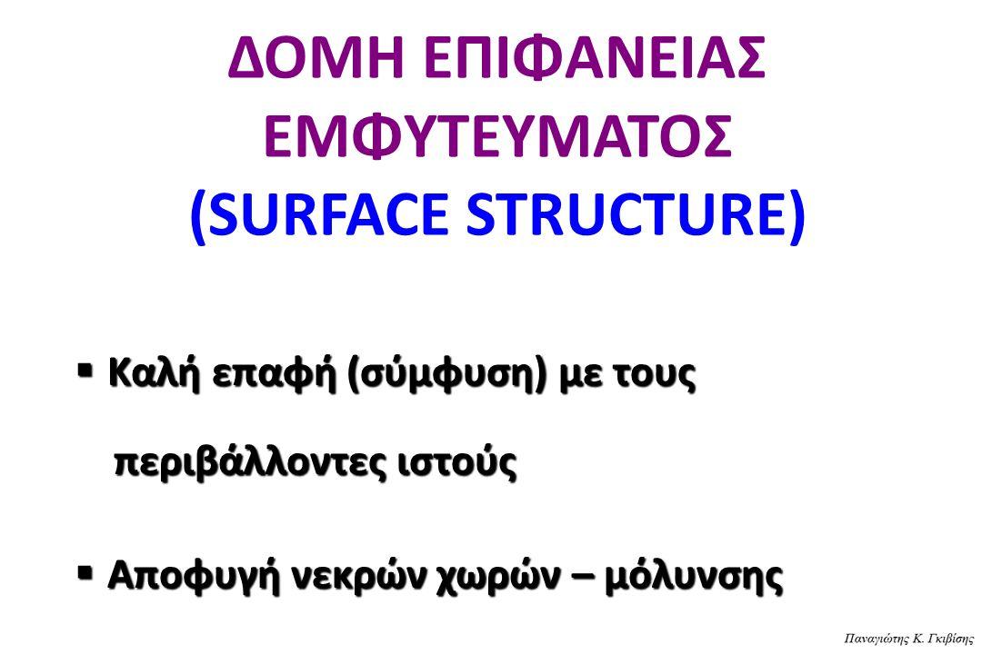 ΔΟΜΗ ΕΠΙΦΑΝΕΙΑΣ ΕΜΦΥΤΕΥΜΑΤΟΣ (SURFACE STRUCTURE)