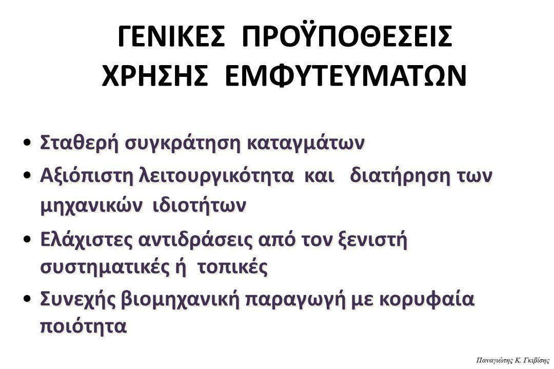 ΓΕΝΙΚΕΣ ΠΡΟΫΠΟΘΕΣΕΙΣ ΧΡΗΣΗΣ ΕΜΦΥΤΕΥΜΑΤΩΝ