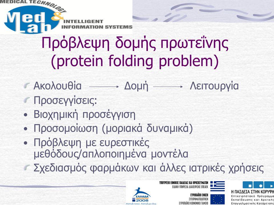 Πρόβλεψη δομής πρωτεΐνης (protein folding problem)