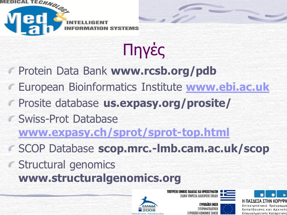 Πηγές Protein Data Bank www.rcsb.org/pdb