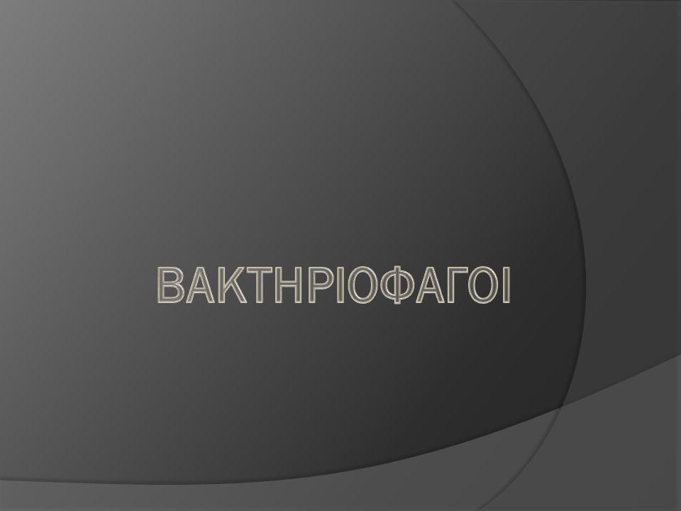 ΒΑΚΤΗΡΙΟΦΑΓΟΙ