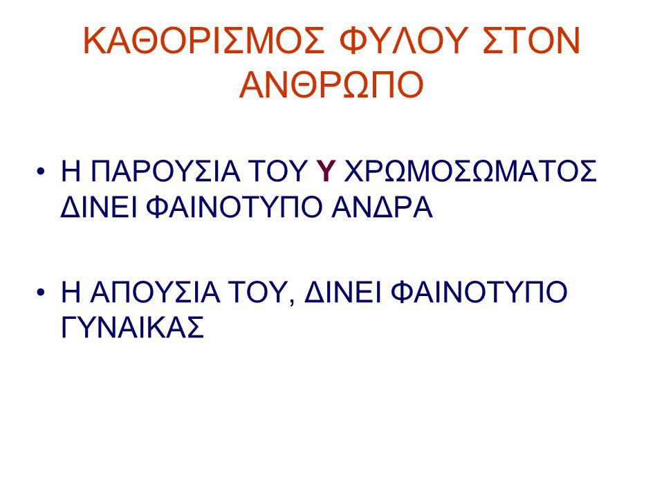 ΚΑΘΟΡΙΣΜΟΣ ΦΥΛΟΥ ΣΤΟΝ ΑΝΘΡΩΠΟ
