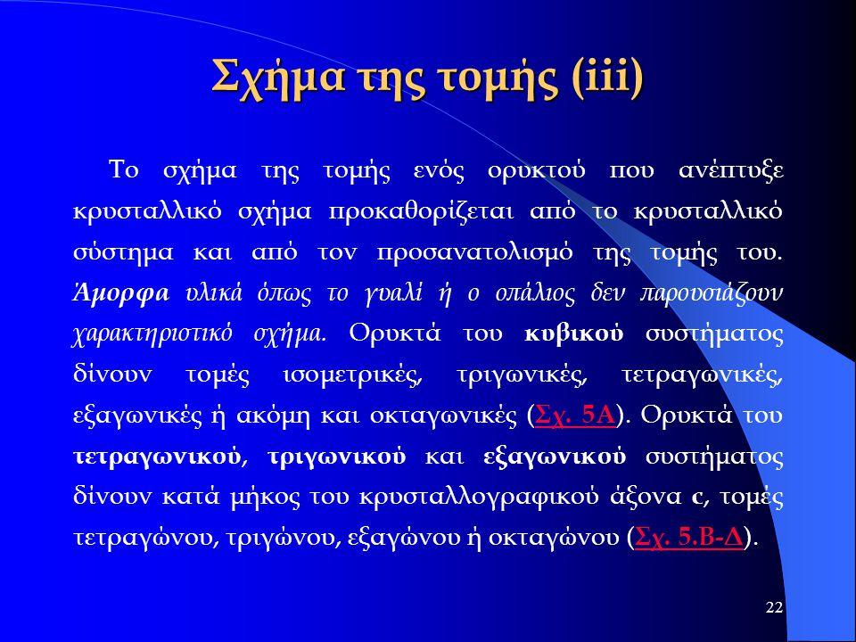 Σχήμα της τομής (iii)