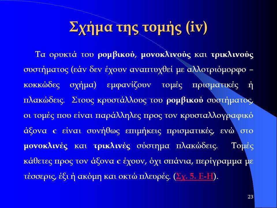 Σχήμα της τομής (iv)