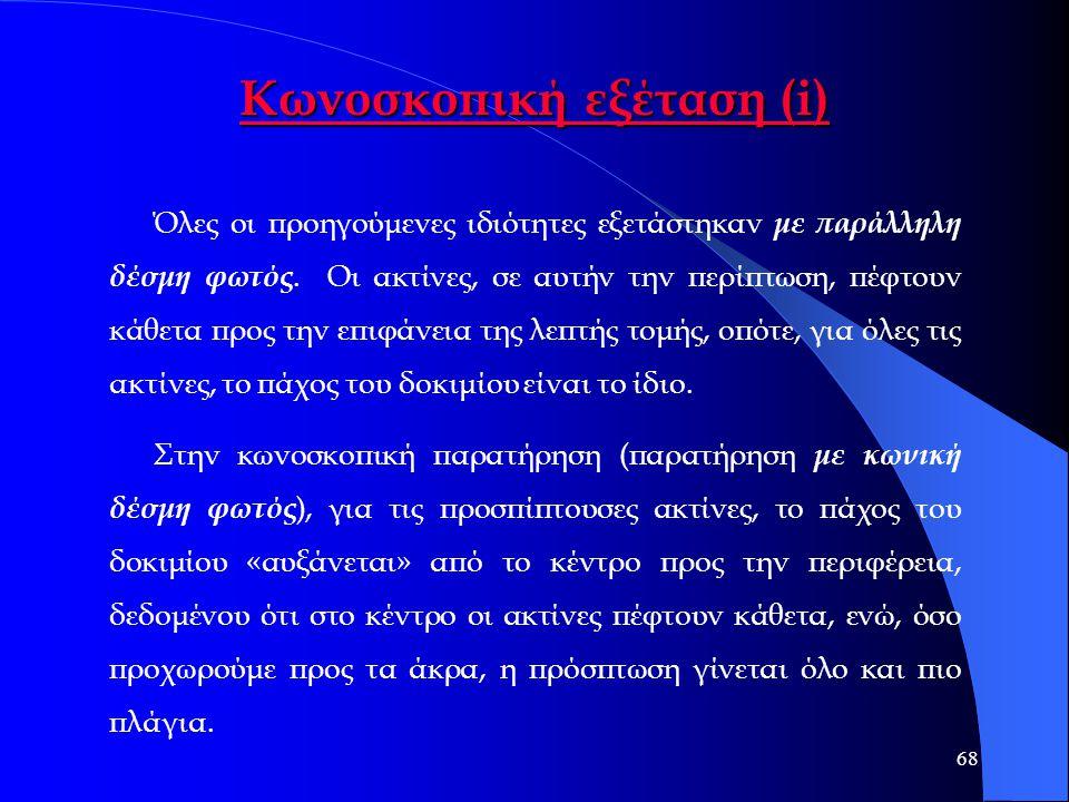 Κωνοσκοπική εξέταση (i)
