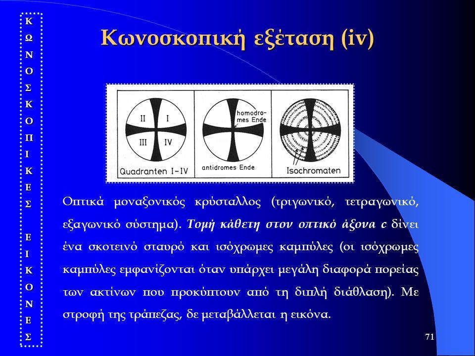 Κωνοσκοπική εξέταση (iv)