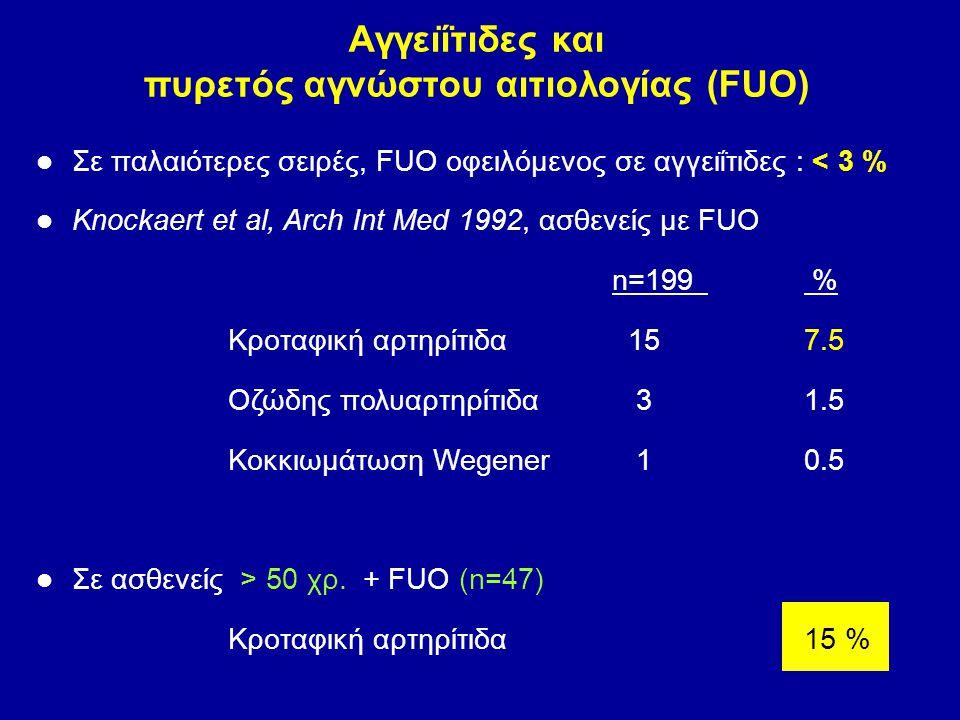 Αγγειΐτιδες και πυρετός αγνώστου αιτιολογίας (FUO)