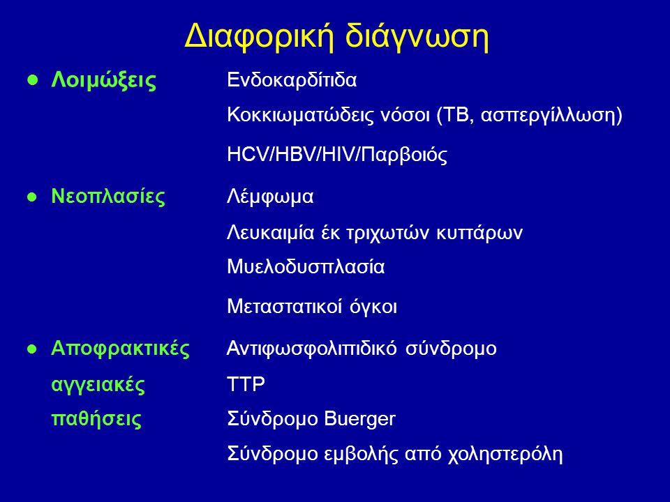 Διαφορική διάγνωση Λοιμώξεις Ενδοκαρδίτιδα