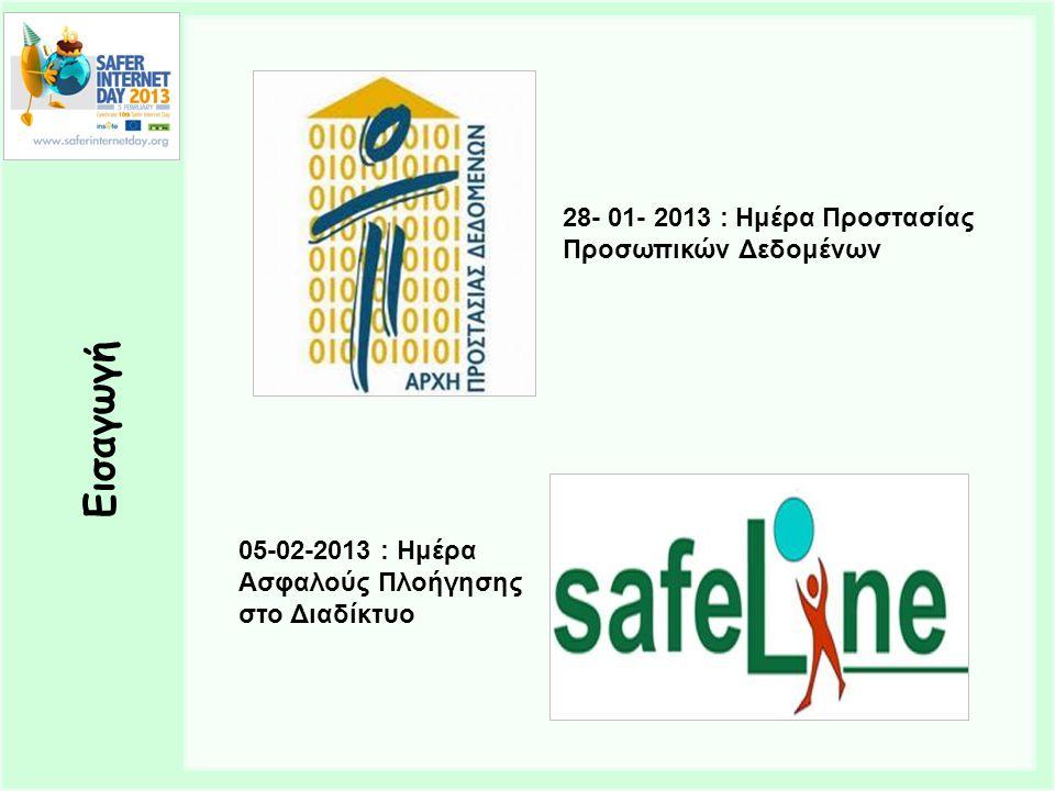 Εισαγωγή 28- 01- 2013 : Ημέρα Προστασίας Προσωπικών Δεδομένων