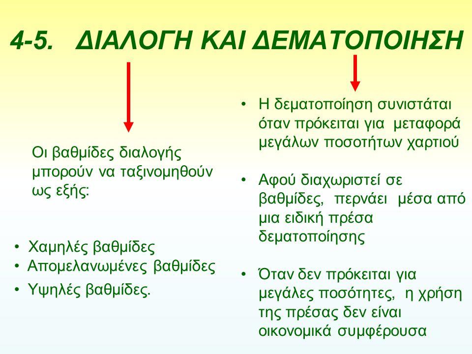 4-5. ΔΙΑΛΟΓΗ ΚΑΙ ΔΕΜΑΤΟΠΟΙΗΣΗ