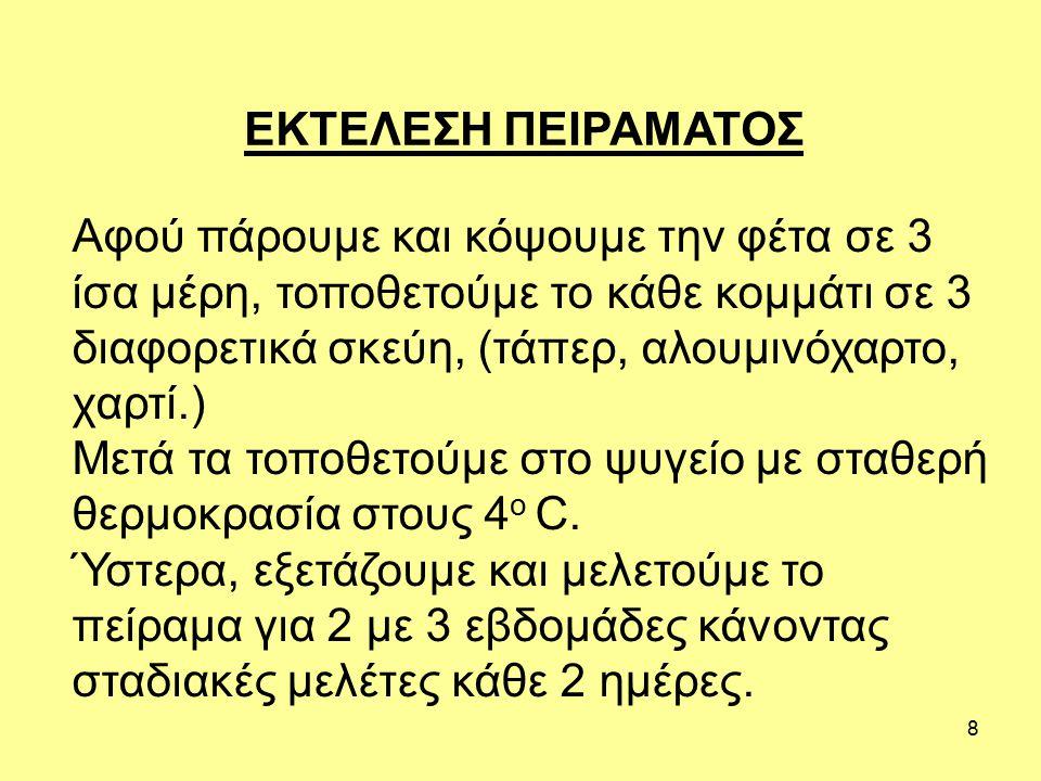 ΕΚΤΕΛΕΣΗ ΠΕΙΡΑΜΑΤΟΣ