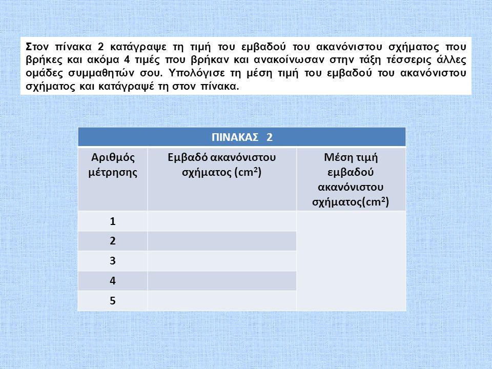 Εμβαδό ακανόνιστου σχήματος (cm2)