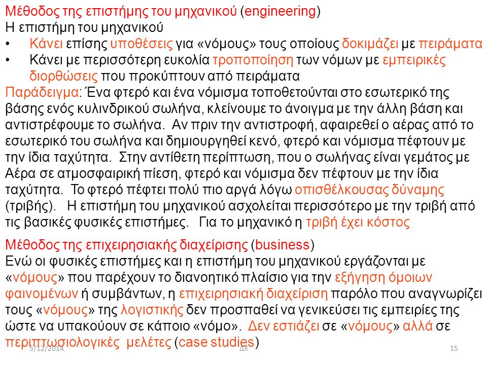 Μέθοδος της επιστήμης του μηχανικού (engineering)