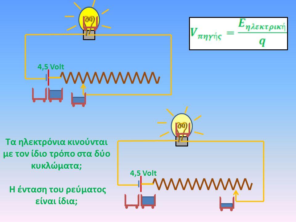 Τα ηλεκτρόνια κινούνται με τον ίδιο τρόπο στα δύο κυκλώματα;