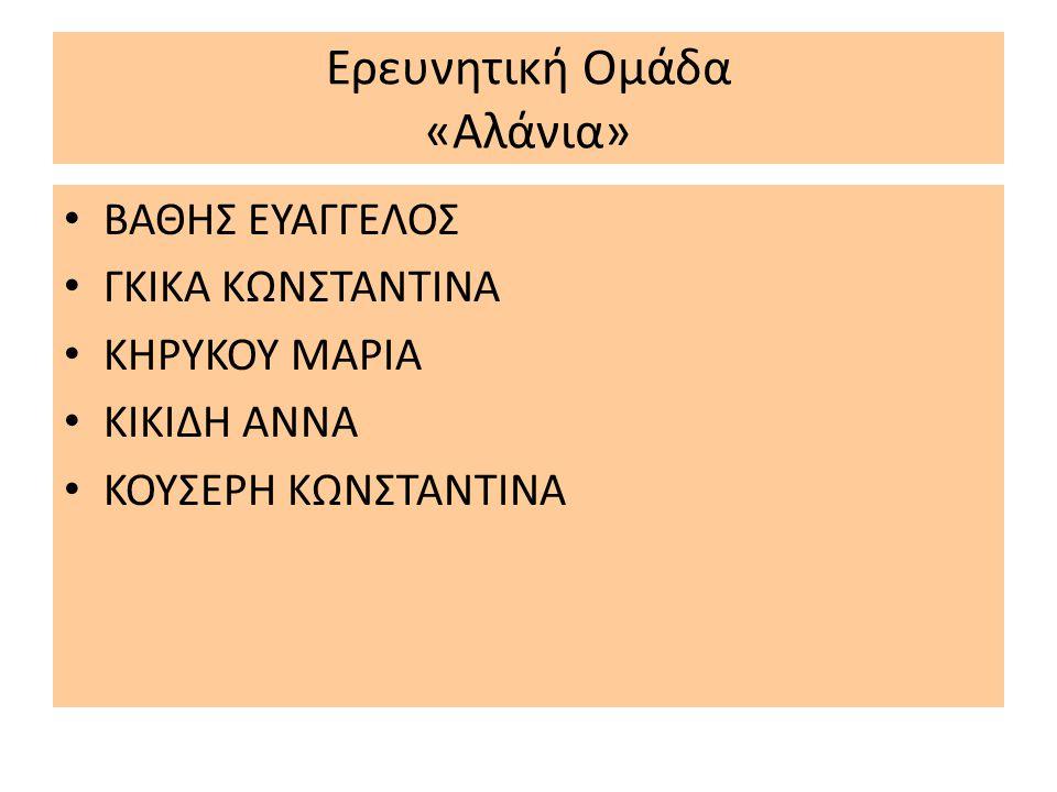 Ερευνητική Ομάδα «Αλάνια»